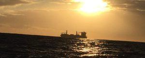 ship in the morning sun